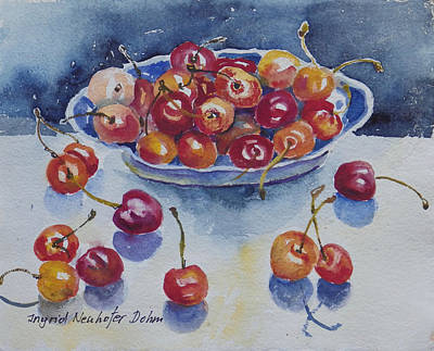 Painting - Bowl Of Cherries by Ingrid Dohm