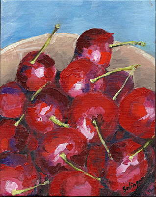 Painting - Bowl Of Cherries by Kathie Selinger