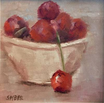 Painting - Bowl Of Cherries by Kathy Stiber