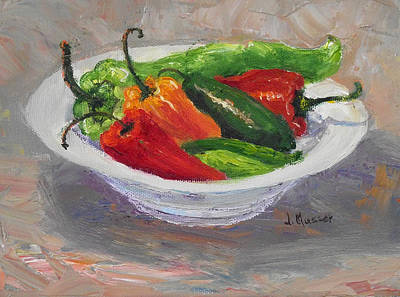 Painting - Bowl Of Chiles by Jill Musser