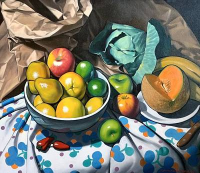 Painting - Bowl Of Friut by Kevin Lawrence Leveque