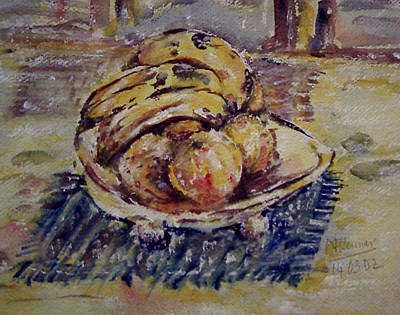 Painting - Bowl Of Frtuit by Naini Kumar