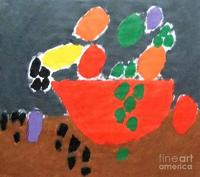 Patrick Painting - Bowl Of Fruit by Patrick Francis