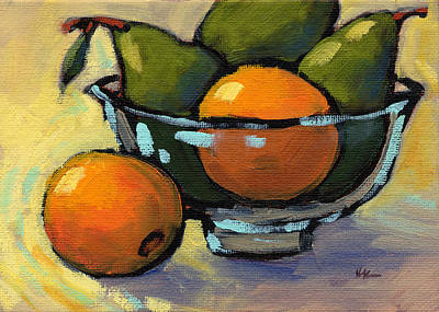 Painting - Bowl Of Fruit 4 by Konnie Kim