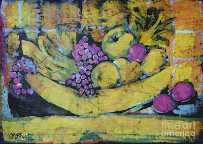 Pineapple Mixed Media - Bowl Of Fruit  by Caroline Street