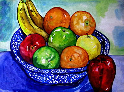 Bowl Of Fruit Art Print by Colleen Kammerer