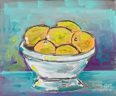 Painting - Bowl Of Lemons by Jeanie Watson