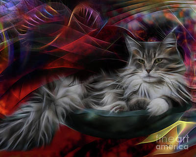 Bowl Of More Fur Art Print by John Robert Beck
