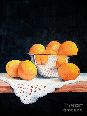 Painting - Bowl Of Oranges by Rebecca Davis