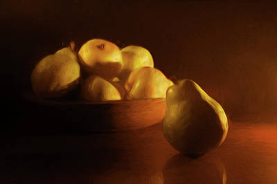 Photograph - Bowl Of Pears by Nikolyn McDonald
