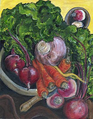 Romaine Painting - Bowl Of Plenty by Jill Hershock