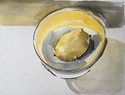 Painting - Bowl With Lemon by Vaughan Davies