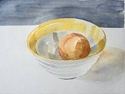 Painting - Bowl With Orange by Vaughan Davies