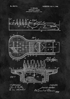Bowling Alley Patent Art Print