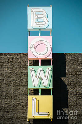 Photograph - Bowling Alley Sign by Bryan Mullennix