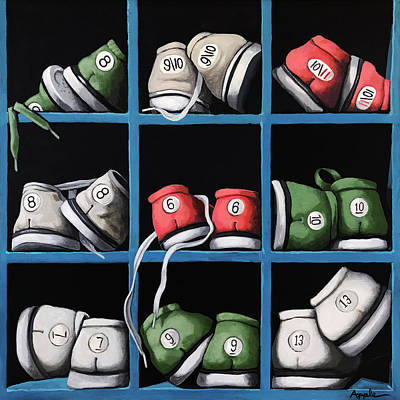 Painting - Bowling by Linda Apple
