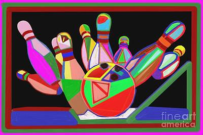 Painting - Bowling Sports Fans Decoration Acrylic Fineart By Navinjoshi At Fineartamerica.com  Down Load  Jpg F by Navin Joshi