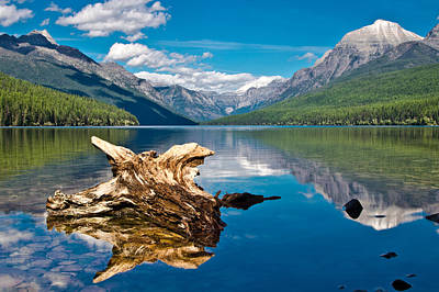 Bowman Lake 1, Glacier Nat'l Park Art Print