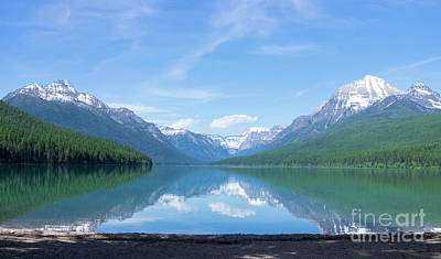 Photograph - Bowman Lake Mt by Louise Magno