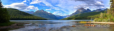 Photograph - Bowman Lake Panorama by Adam Jewell