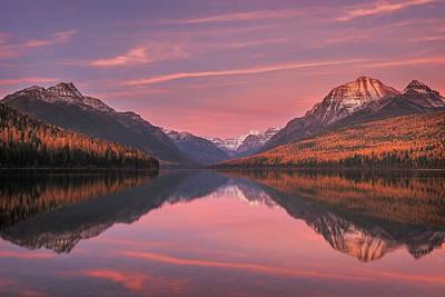 Photograph - Bowman Lake Sunset by Scott Wheeler