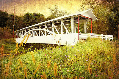 Photograph - Bowser Covered Bridge by Trina  Ansel