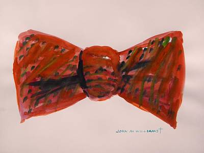 Warm Tones Drawing - Bowtie 1 by John Williams