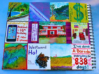 Mixed Media - Box-a-day Every Day For 838 Days by Polly Castor