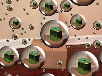 Digital Art - Box Bubbles by Kathy K McClellan