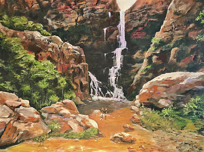 Painting - Box Canyon  by Alan Lakin