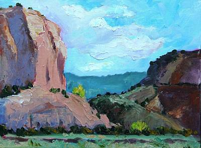 Abiquiu Painting - Box Canyon, Early Afternoon by Marian Berg