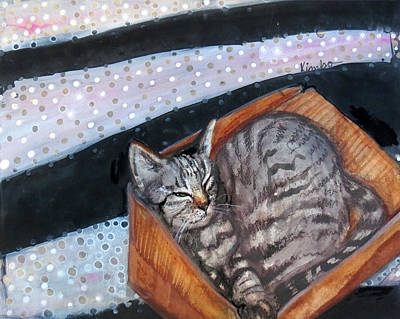 Painting - Box Cat by Kimbo Jackson