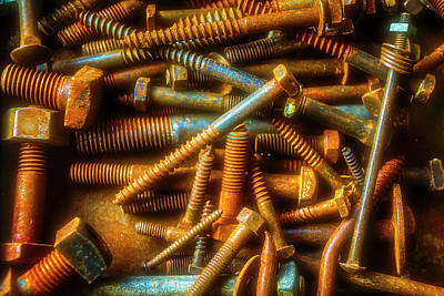 Photograph - Box Full Of Rusty Screws by Garry Gay