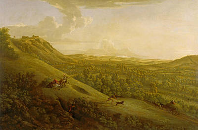 Painting - Box Hill Surrey With Dorking In The Distance by George Lambert