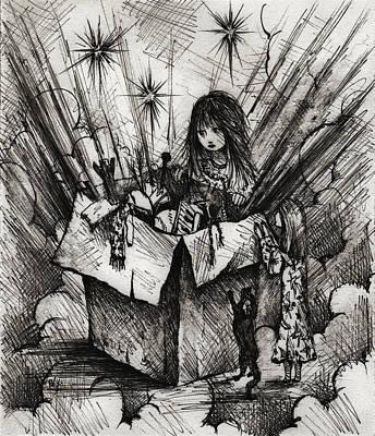 Tear Drawing - Box Of Dreams by Rachel Christine Nowicki
