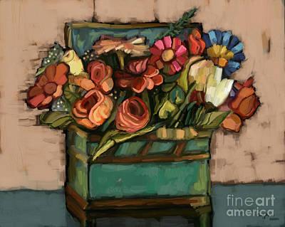 Box Of Flowers Art Print