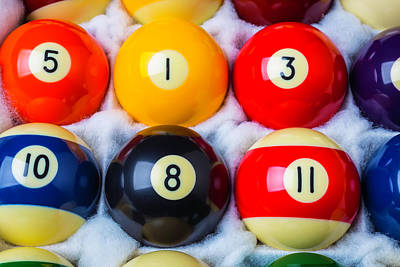 Eleven Photograph - Box Of Pool Balls by Garry Gay
