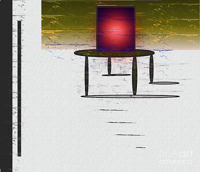 Abstract Expressionist Digital Art - Box On A Table by John Krakora