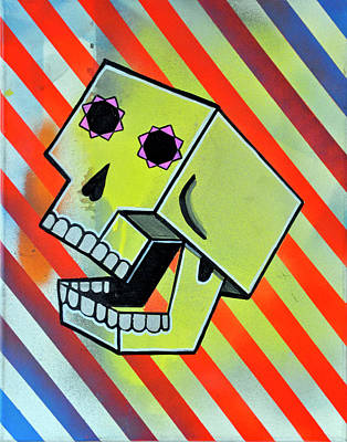 Box Skull Art Print