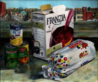 Painting - Box Wine With Bread No. 1 by Thomas Weeks