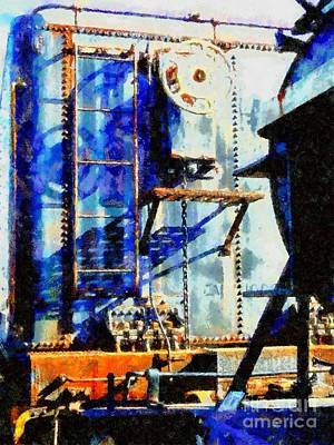 Boxcar Blues - Scranton Pa Art Print by Janine Riley