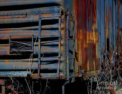 Photograph - Boxcar Detail by Douglas Stucky