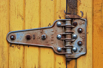 Digital Art - Boxcar Hinge by Becky Titus