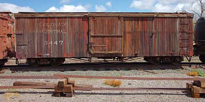 Photograph - Boxcar On The Colorado Central by Gordon Elwell