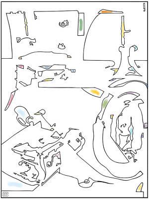 Drawing - Boxcupmirrortablechairandchestofdrawers by Stan  Magnan