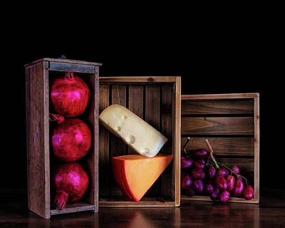 Photograph - Boxed Cheeses And Fruits by Tom Mc Nemar