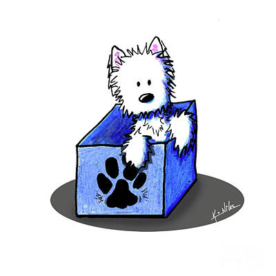 Drawing - Boxed In Cuteness by Kim Niles