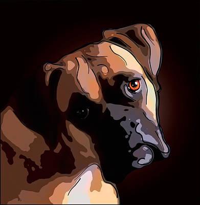 Boxer Digital Art - Boxer by Alexey Bazhan