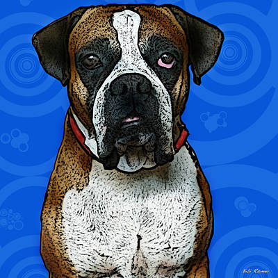 Dog Pop Art Photograph - Boxer by Bibi Romer