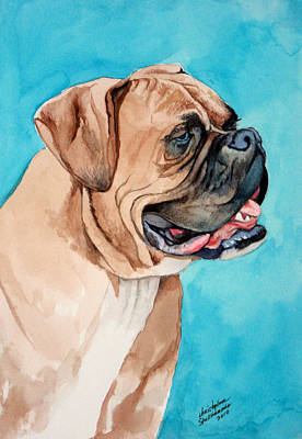 Painting - Boxer by Christopher Shellhammer